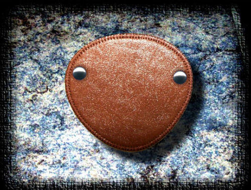 Eye Patch Brown Leather