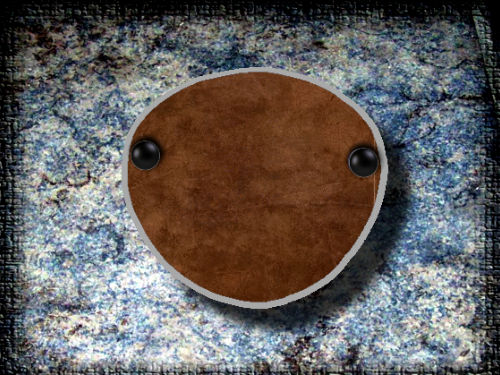 Eye Patch Antique Brown Leather
