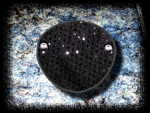 RB 1 Small Black Sequin Eye patch