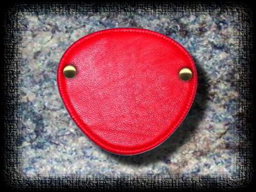 Eye Patch Smooth Red Leather