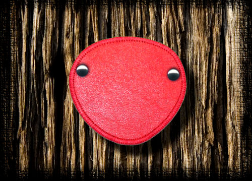 Eye Patch Red Leather