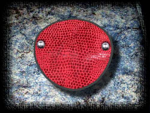 Red Custom Leather eye patch
