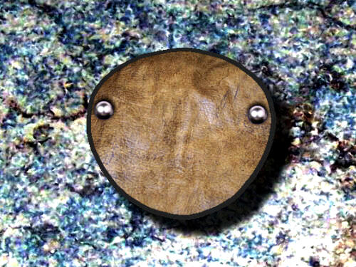 Eye Patch Distressed Light Brown Leather
