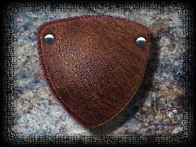 Aged Brown Leather eye patch
